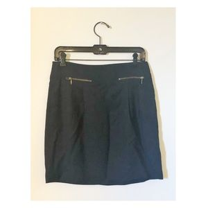 Pleated Mini Skirt with Zippered Pockets
